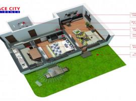 Apartament 2 camere alexandriei, curte privata, loc parcare