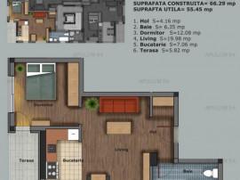Prelungirea Ghencea, apartament 2 camere, 56mp, etaj 1/5, se