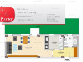 Garsoniera | Curte 33mp | Zona Prelungirea Ghencea- S6 | COM