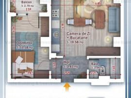 2 camere, tip STUDIO, cartier Titan