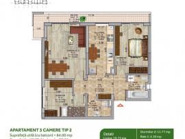 Apartament 3 camere-Ansamblu rezidential modern-Titan, Ni...