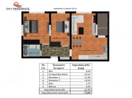 Apartament 3 camere finalizat- toate utilitatile Antiaeriana