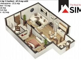 Apartament cu 2 camere in zona de Vest