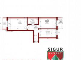 Apartament cu 2 camere in Sibiu, decomandat si 2 balcoane