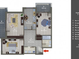 Apartament 3 camere bloc nou sos Alexandriei nr 99D