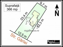 Baneasa - Str. Garlei, teren 366 mp, casa din caramida