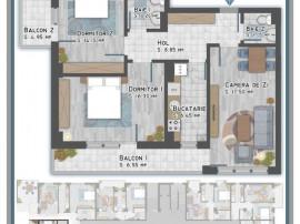 Apartament 3 cam Titan-Metrou 1 Decembrie 1918, sector 3