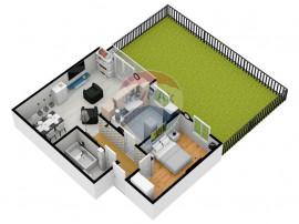 Apartament 2 camere | Selimbar | Gradina proprie 45mp