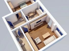 Apartament 2 camere, bloc nou,3 minute de Belvedere