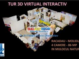 Tur virtual 3D interactiv - 4 camere Racadau, in mijlocul n