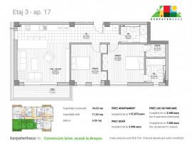 Apartament 3 camere în ansamblu rezidențial Racadau