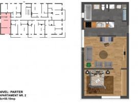 2 camere dressing-Nou-55mp-Zona Terra- Plata integrala