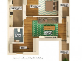 Calea Giulesti Apartament 2cam su. 53 mp finalizare 2021