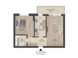 Apartament decomandat_balcon inchis_metrou Leonida-Berceni