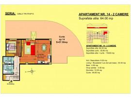 Apartament 2 camere , str Nicolae Labis 52 D , 64 mp