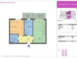 Apartament 2 camere, Apollo Residence, zona Dimitrie Leonida