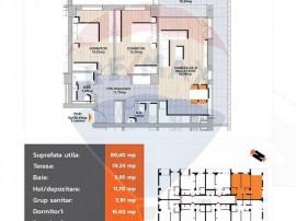 Comision 0%- Apartament 3 camere, zona Noua