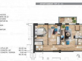 Apartament 3 camere Belvedere Residence