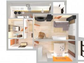 Big: apartament 2 camere, confort 1, etaj 3, constructie 201