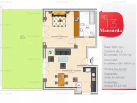 Apartament cu 2 cam | Terasa 54mp | Zona Prelungirea Ghencea