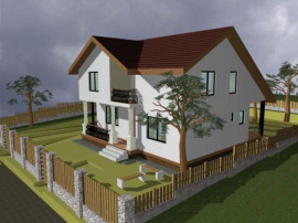Casa cu etaj cornuca