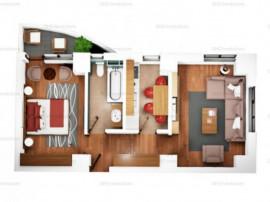 Apartament cu 2 camere, Bloc nou