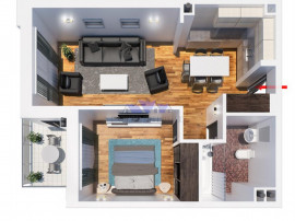 Comision 0, apartament 2 camere, Tatarasi, finalizat, 49mp