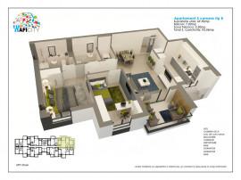 Apartament 3 camere cu gradina, zona verde