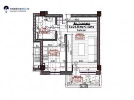Apartament nou cu 1 camera - decomandat - 29.55 mp utili