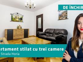 Apartament elegant cu trei camere. Strada Horia.