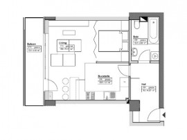 Apartament 46.96 mp - 61.048€, complex HIMSON Iasi