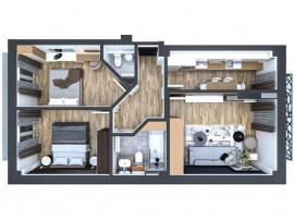 Apartament 3 camere, Pacurari, 73 mp, comision 0