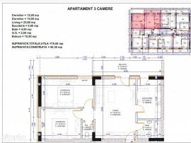Apartament 3 camere ansamblu rezidential nou