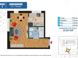 Ansamblu nou - Premium - Statie STB garsoniera
