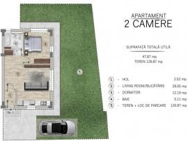 Apartament cu 2 camere + curte metrou Ap Patriei