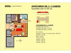 Apartament 2 camere, str Nicolae Labis nr 52- 61.65 mp
