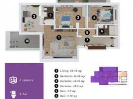 Apartament 3 camere cu curte proprie Jiului Bucurestii Noi