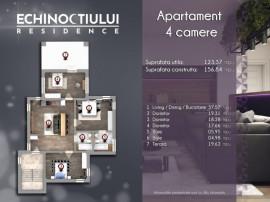 Apartament 4 camere,etaj 2,104 mp utili,+ terasa 18 mp,comis