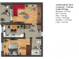 Apartament 2 camere - Zona linistita - Comision 0%