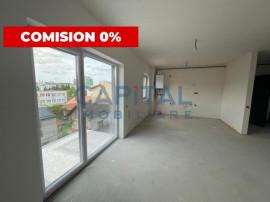 Apartament nou, semi-finisat, zona centrala, 2 bai, balcon,