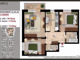 Apartament cu 3 cam - spate Primarie Popesti