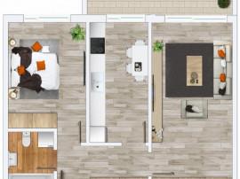 Apartament nou, 2 camere, Prima Decebal, 60mp