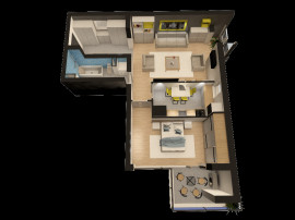 Apartament 2 camere in complex pallady towers by anchor