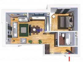 Comision 0, apartament 2 camere, Tatarasi, finalizat, 39mp