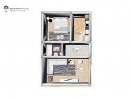 Apartament nou cu 2 camere - decomandat - 50.6 mp utili