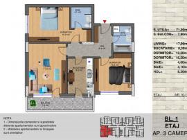 Apartament 3 camere Theodor Pallady-Metrou Nicolae Teclu