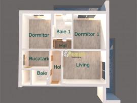 Apartament 3 camere, Et intermediar, Bloc Nou, Buna Ziua