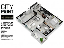 Pre-Sale | City Point Aviatiei | Apartament 3 camere |
