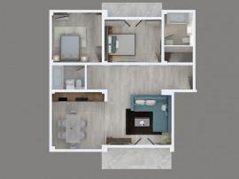 SUD-Democratiei - apartament 3 camere 1A in bloc rezidential