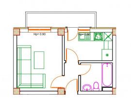 Apartament cu 1 camera, bloc nou, comision 0%